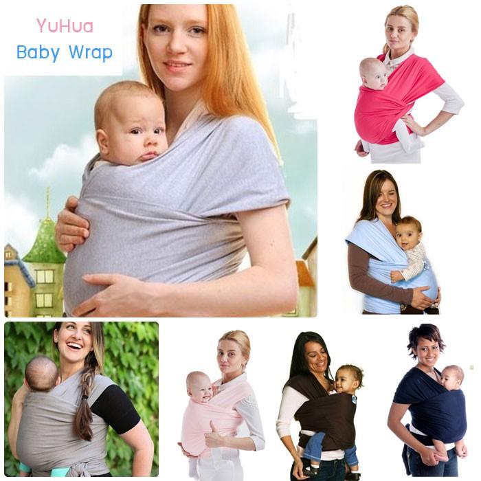 ผ้าอุ้มทารก เป้ผ้าอุ้มเด็ก YuHua Baby Wrap เบาสบาย กระจายน้ำหนัก (เก็บเงินปลายทา