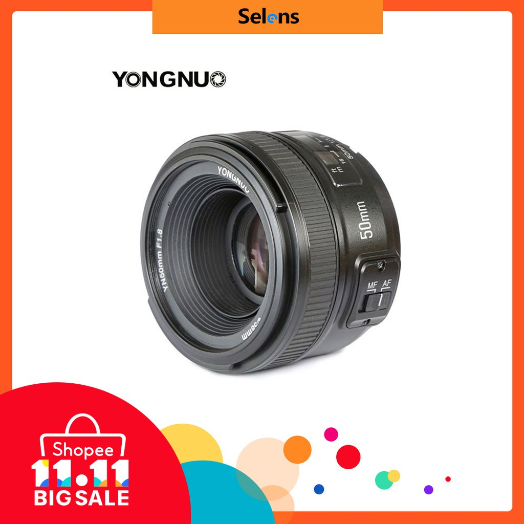 Yongnuo Standard Prime Auto Focus Lens Yn 50mm F 18 With Free Gifts Lensa F18 Ii For Nikon Shopee Malaysia