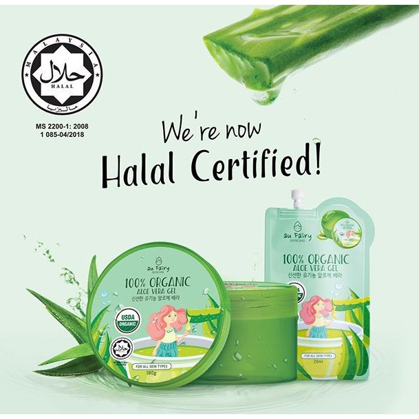 Au Fairy 100% Organic Aloe Vera Gel (180ml)