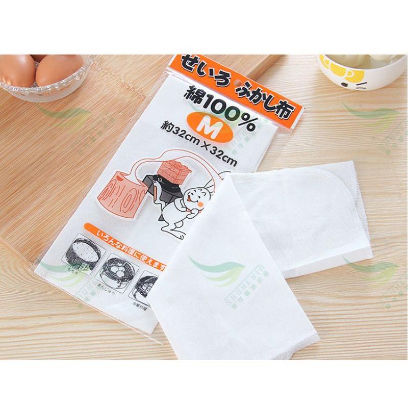 日式厨房笼布棉纱蒸笼布笼屉布蒸布不粘蒸小笼包蒸包子馒头垫