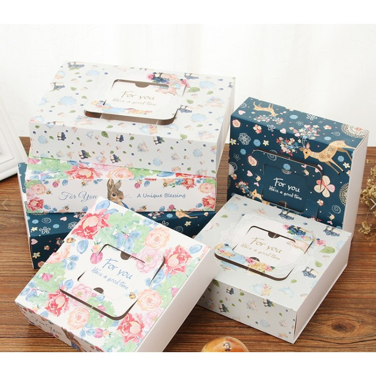 Cute Wedding Gift Box For Guest Food Carton Paper Boxes Moon Cake