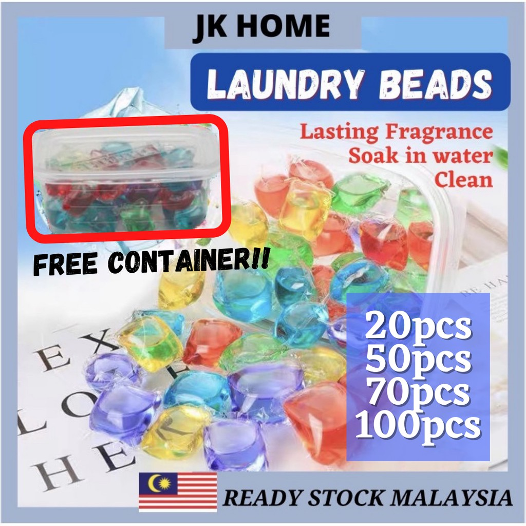 JK Home Laundry Ball Beads Laundry Gel Stains Film Bead Ball Capsules Travel Washing Liquid Pod Cleaning Condensa