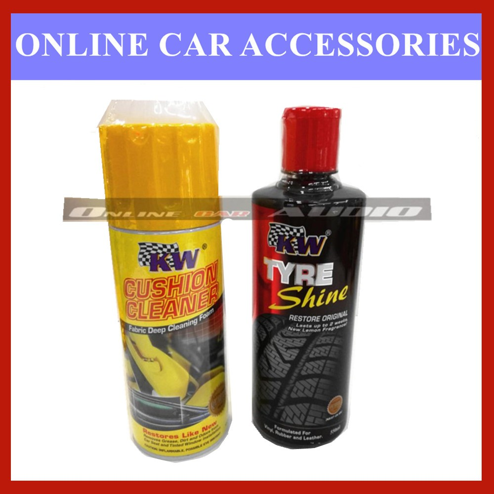 KW 1x Tyre Shine,1x Cushion Cleaner (2 item in package)
