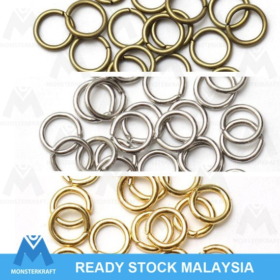 pcs Brass Steel 4-10mm Sizes MIX 10 grams 100 JUMP RING Mix Assorted Colors