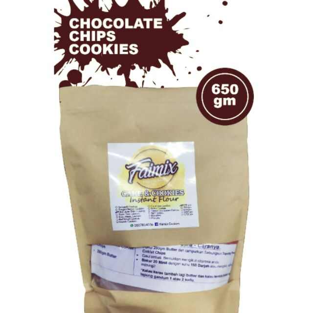 Chooclate Chip Cookies Instan Flour 650g