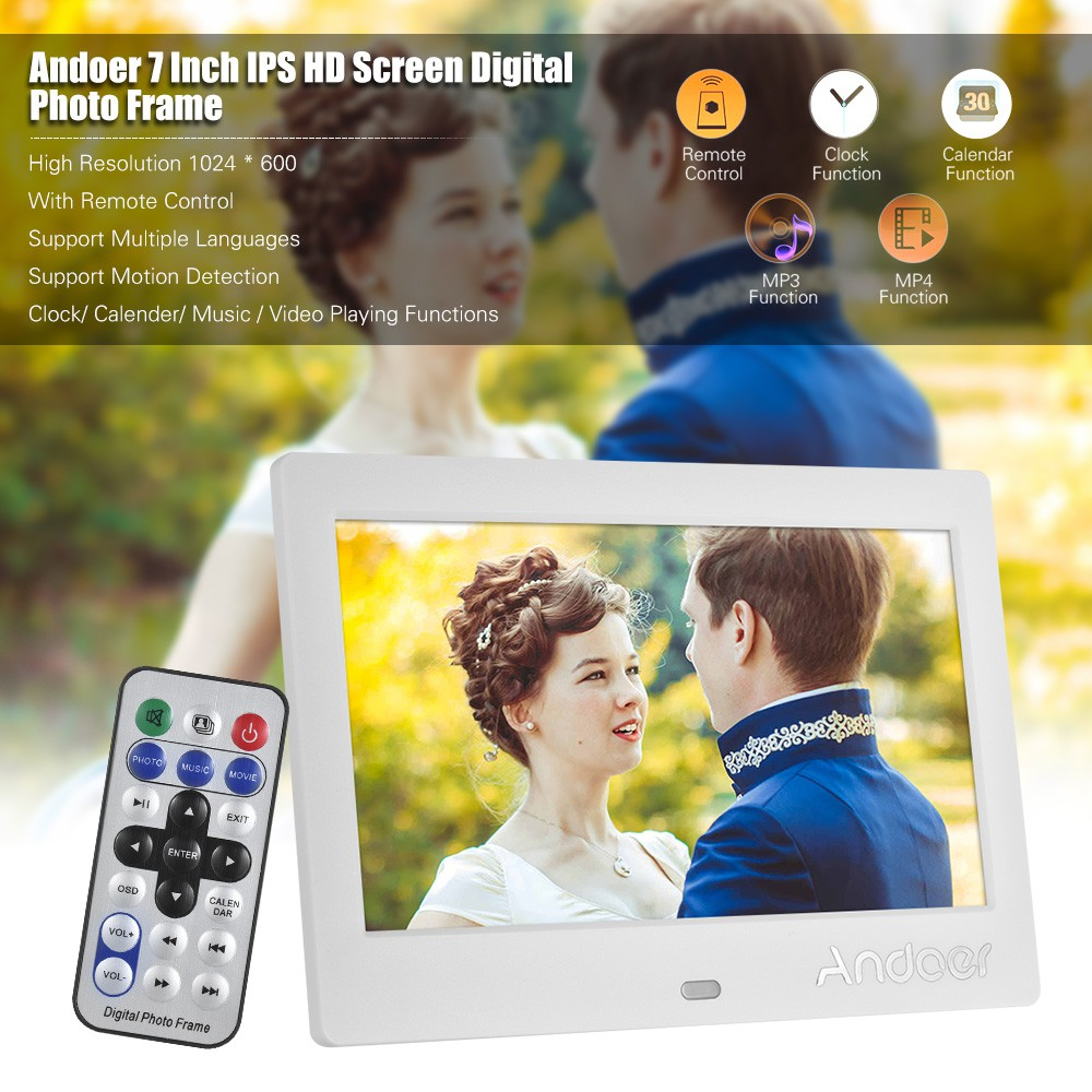"""15.4/"""" HD 16:9 Motion Detection Digital Photo Frame with Remote Controller Kit"""