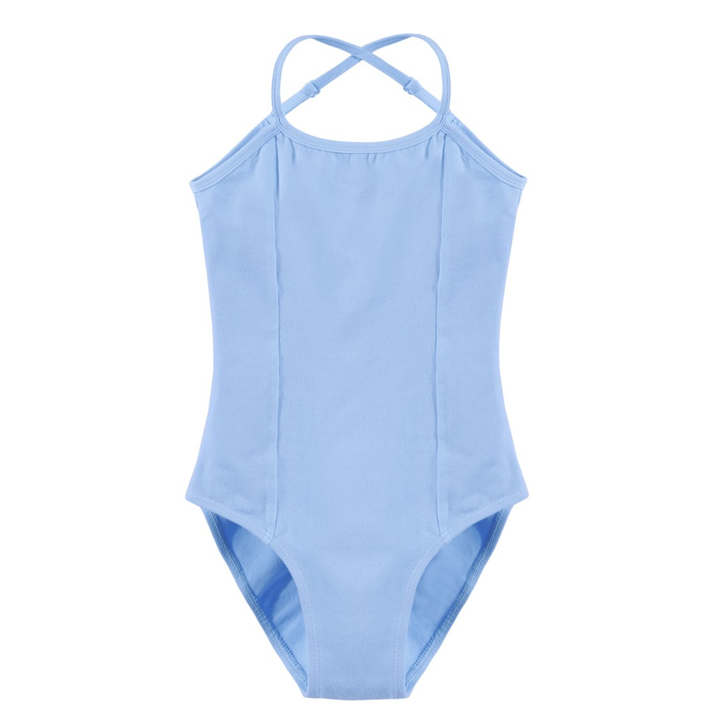 bccc26a6e Girls  Gym Dance Spaghetti Strap Back Rhombus Harness Solid Leotard ...