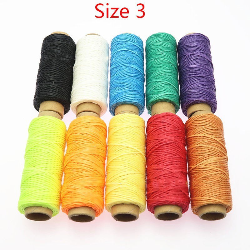 10pcs 50meter DIY hand-stitch wax rope 150D wax line (10 colors /set)