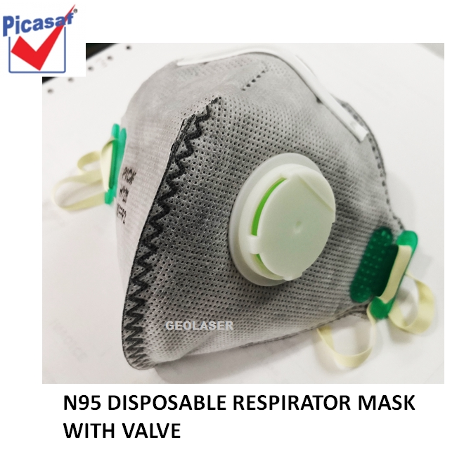 Disposable N95 active With Carbon Respirator Mask Picasaf Valve