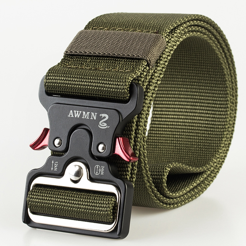 Men Womens Tactical Nylon Belt Twill Durable Outdoor Sports Casual Waist Bands