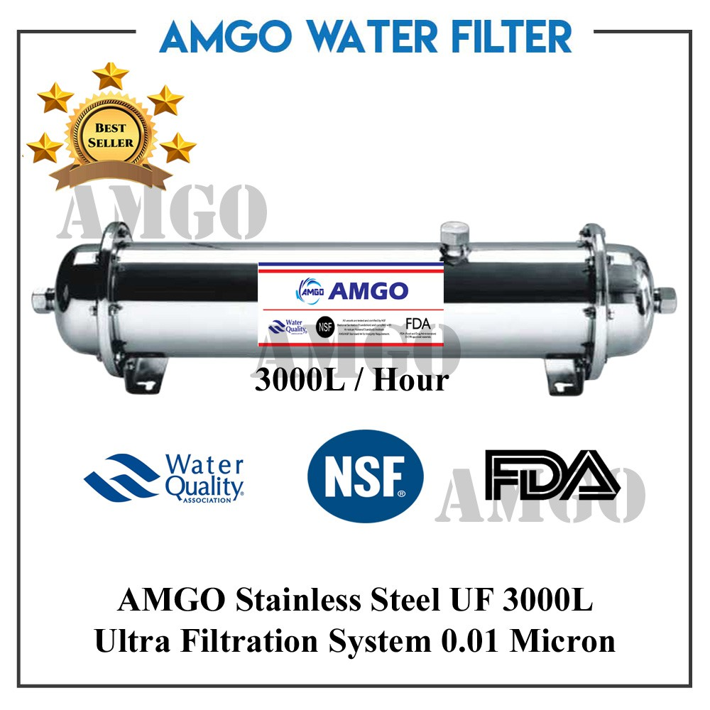 AMGO UF 3000L Ultra Filtration UF Membrane Water Filter Purifier Outdoor
