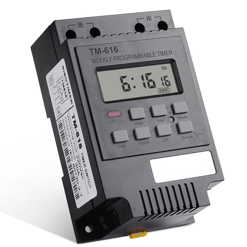 TM616 30A AC 220V digital time switch weekly programmable electronic timer