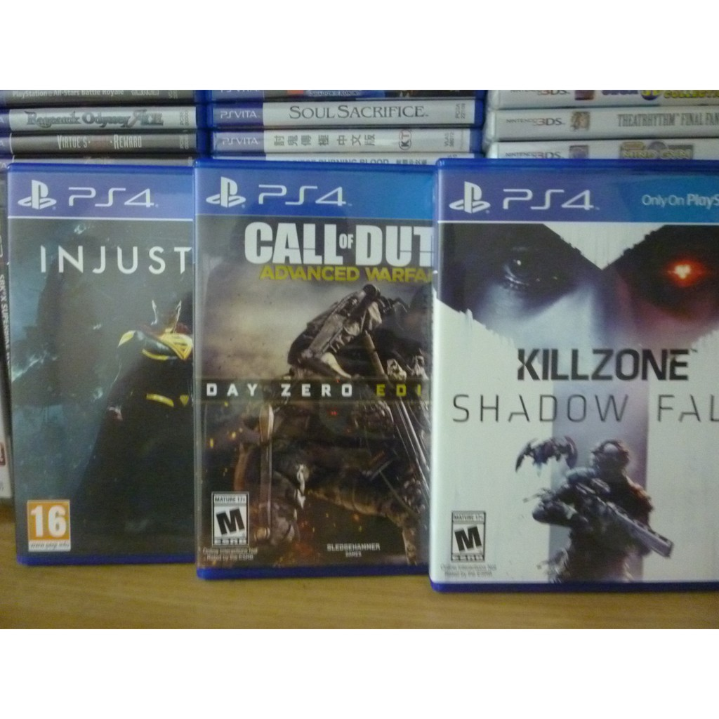 Killzone Shadow Fall, Injustice 2, Call of Duty Advanced Warfare PS4 Game