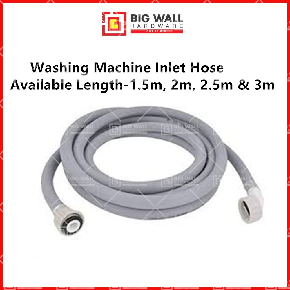 Washing Machine Inlet Hose for Front Loading Machines Available Length 1.5m, 2m, 2.5m & 3m Big Wall Hardware