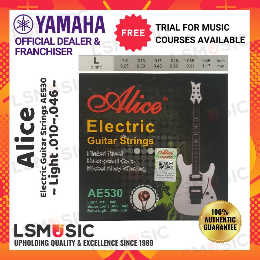 Alice AE530 Electric Guitar String Set Extra Light (.008~.038) / Super Light (.009~.042) / Light (.010~.046)