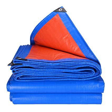 Waterproof Orange Blue PE Polyethylene Tarpaulin Canvas Sheet Various Size