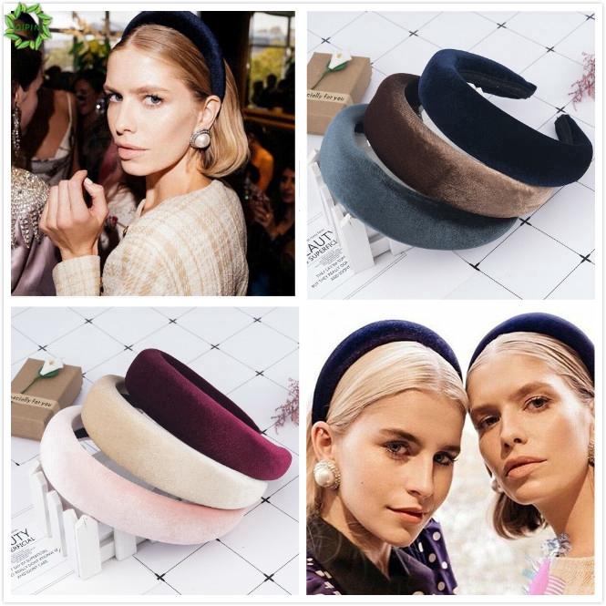 Women/'s Girl Padded Velvet Headband Multicolor Hairband Hair Decor Gifts Stylish