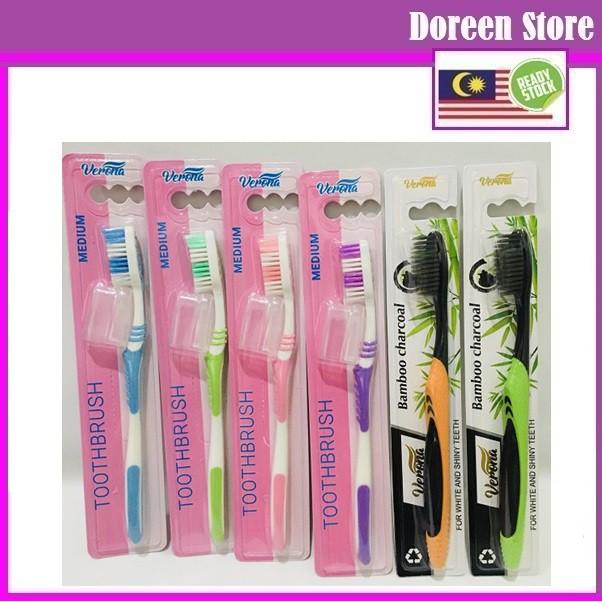 Verona Bamboo Charcoal Tooth brush, Medium Size