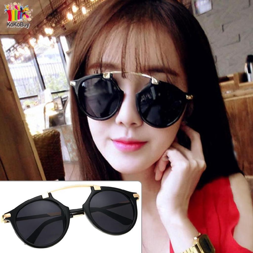 fc3d12e50caa Hot Fashion Retro Lady Dual Beam Full Frame Sunglasses
