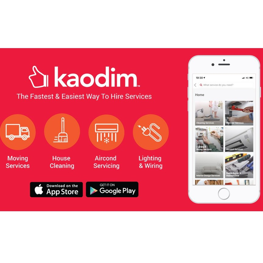 RM50 OFF all services on Kaodim [e-voucher]