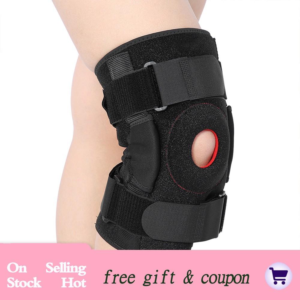 Neoprene Patella Black Elastic Knee Support Gym Sport Uk Fast Brace Fastener