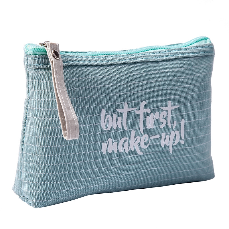 4b7dc1086bae ProductImage. Small Cosmetic Bag Striped Makeup Case Zipper Lip Make Up  Bags Beauty ...