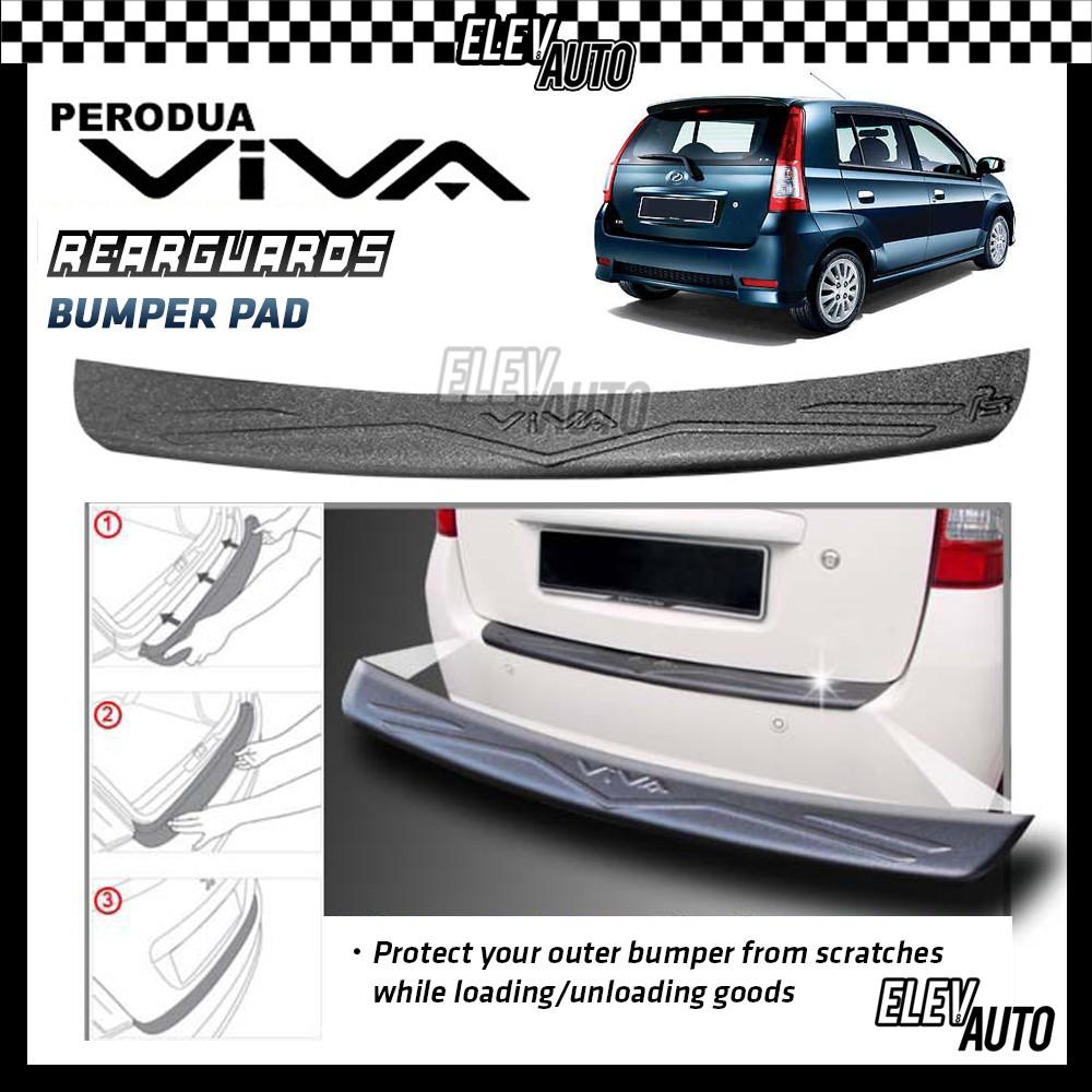 Perodua Viva MATTE BLACK Rear Bumper Guard Bumper Pad