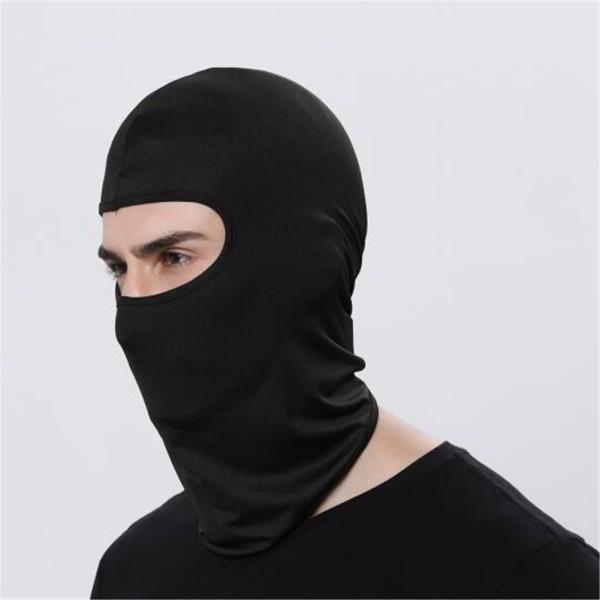 2x Outdoor Ski Motorcycle Cycling Balaclava Lycra Full Face Mask Neck Ultra Thin