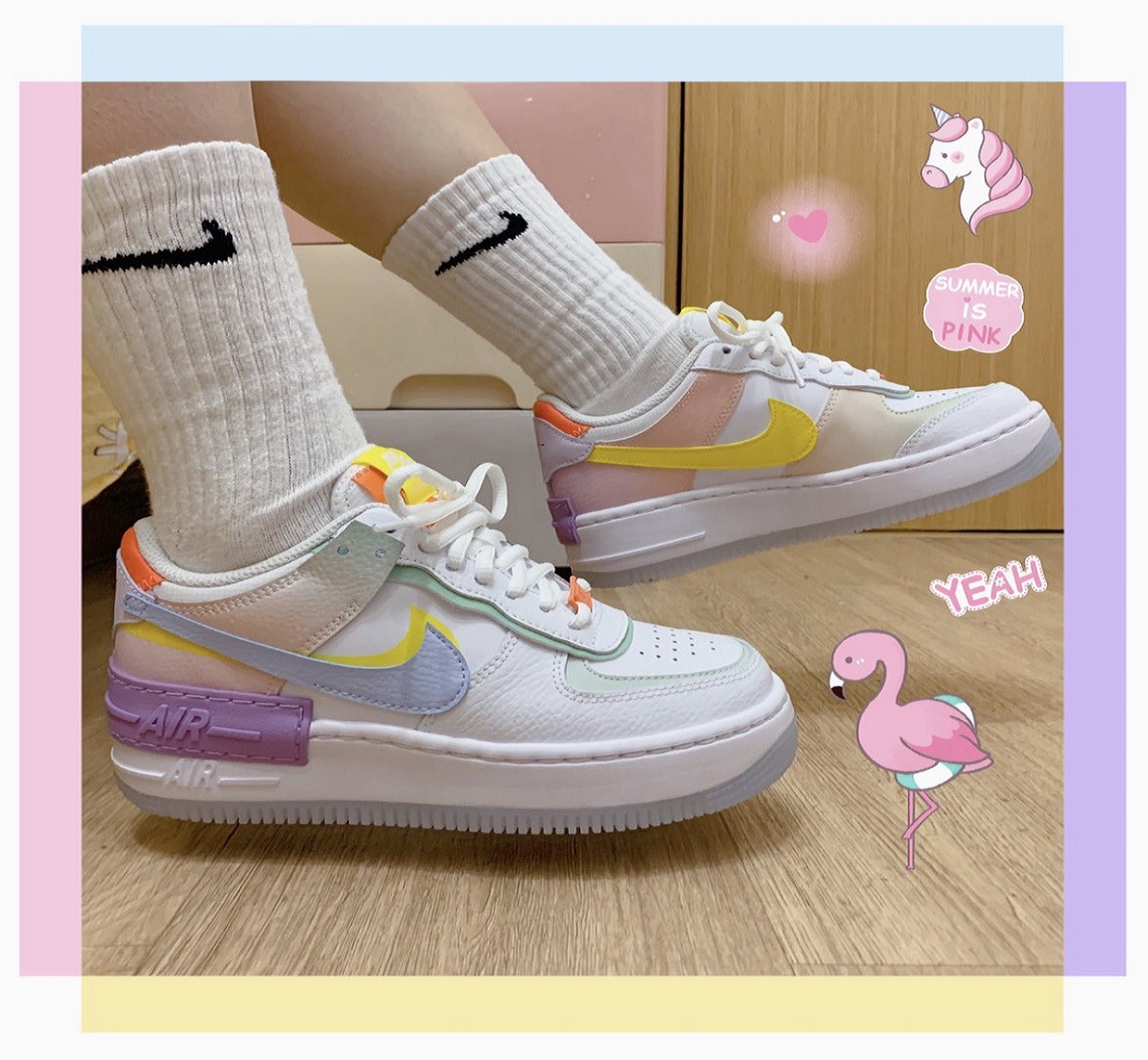 Original Nike Air Force 1 Shadow Af1 Macarone Diamond Candy Boardshoes Sneakers Women Shoes Sportscw2630 141 Shopee Malaysia The nike air force 1 shadow pays homage to the women who. original nike air force 1 shadow af1 macarone diamond candy boardshoes sneakers women shoes sportscw2630 141