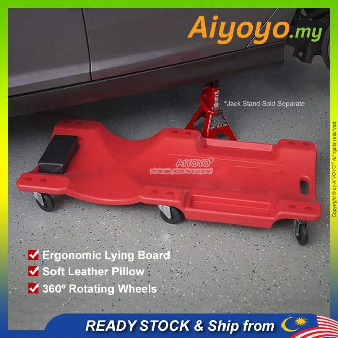 "36"" Mechanic Creeper Car Garage with 6 Swivel Wheels Mechanic Plastic Creeper Board Car Repair Undercarriage Creeper Flo"