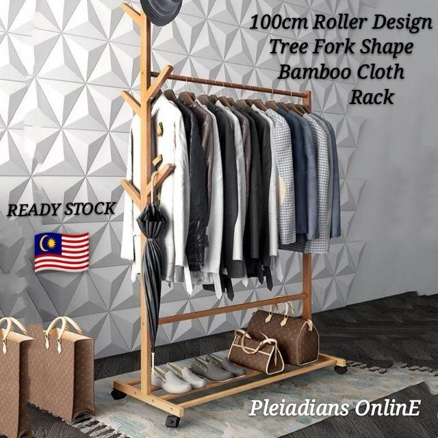 👉 READY STOCK 👉🇲🇾 Modern Simplicity Cloth Hanger Hat Rack Solid Wood  Shelf