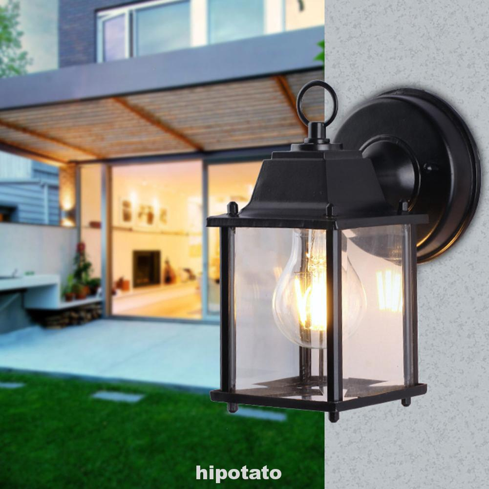 Front Porch Light Fixture Outdoors Exterior Lighting Wall Mounted Lantern Black Shopee Malaysia