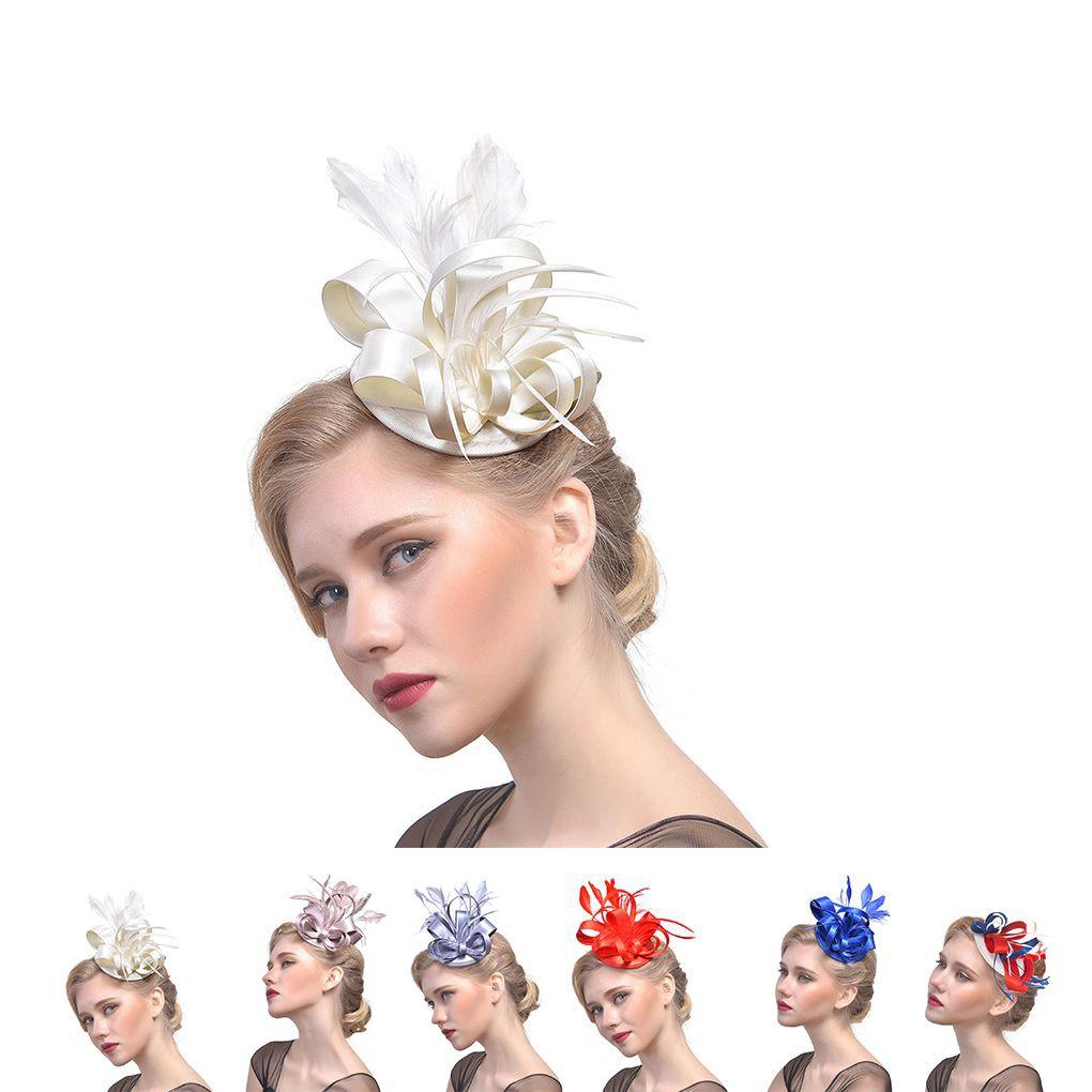 1920s Feather Flower Headpiece Charleston Flapper Headband Women Fascinator
