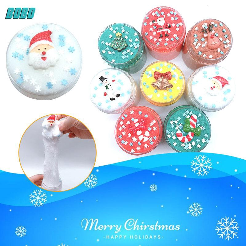 Christmas Slime.Bobo New Arrival Christmas Slime Toy Beautiful Collection Diy Stress Reliever