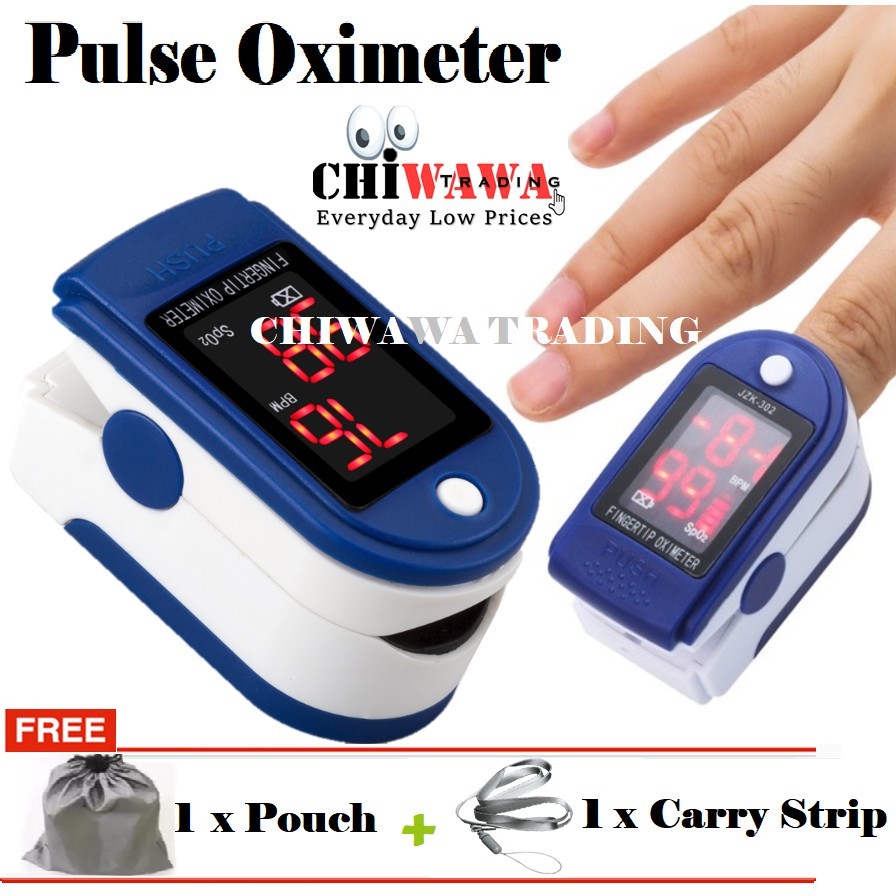 Finger Tip Pulse Oximeter Blood Pressure Heart Beat Monitor Sphygmomanometer
