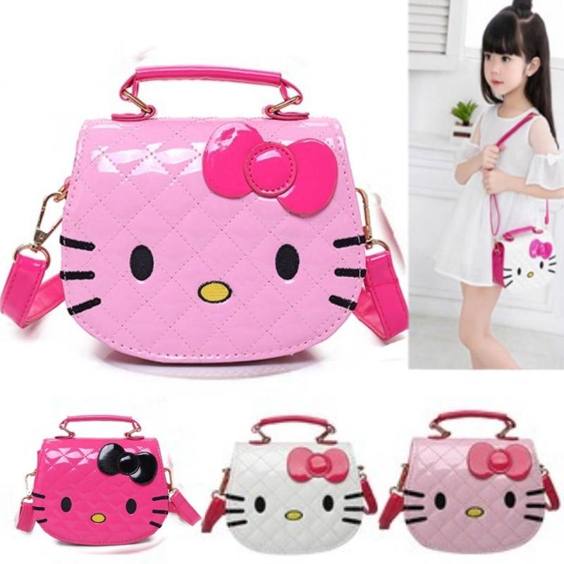 68259daf8 Hello Kitty Kids Girls Cat Kitty PU Leather Shoulder Bag Handbag Messenger  Bag | Shopee Malaysia