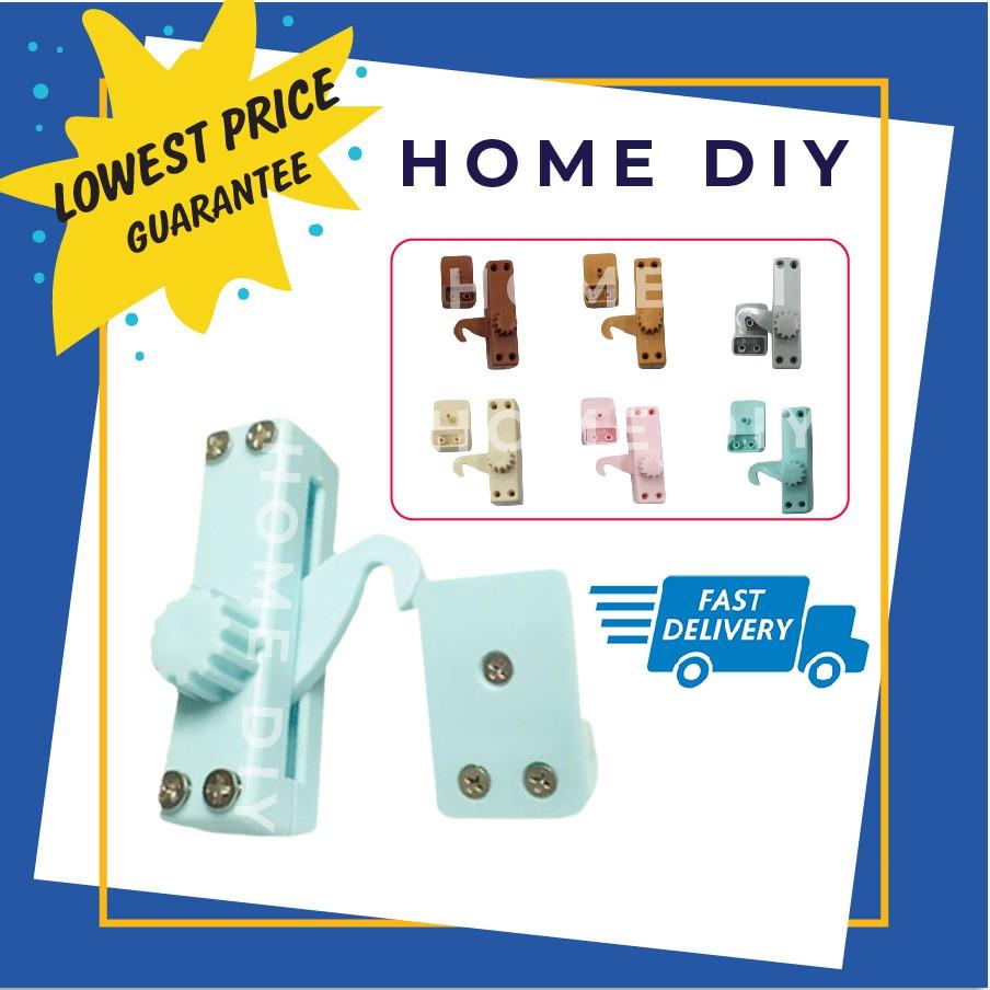 HOME DIY PVC Hook Lock for PVC Sliding Slide Washroom ...
