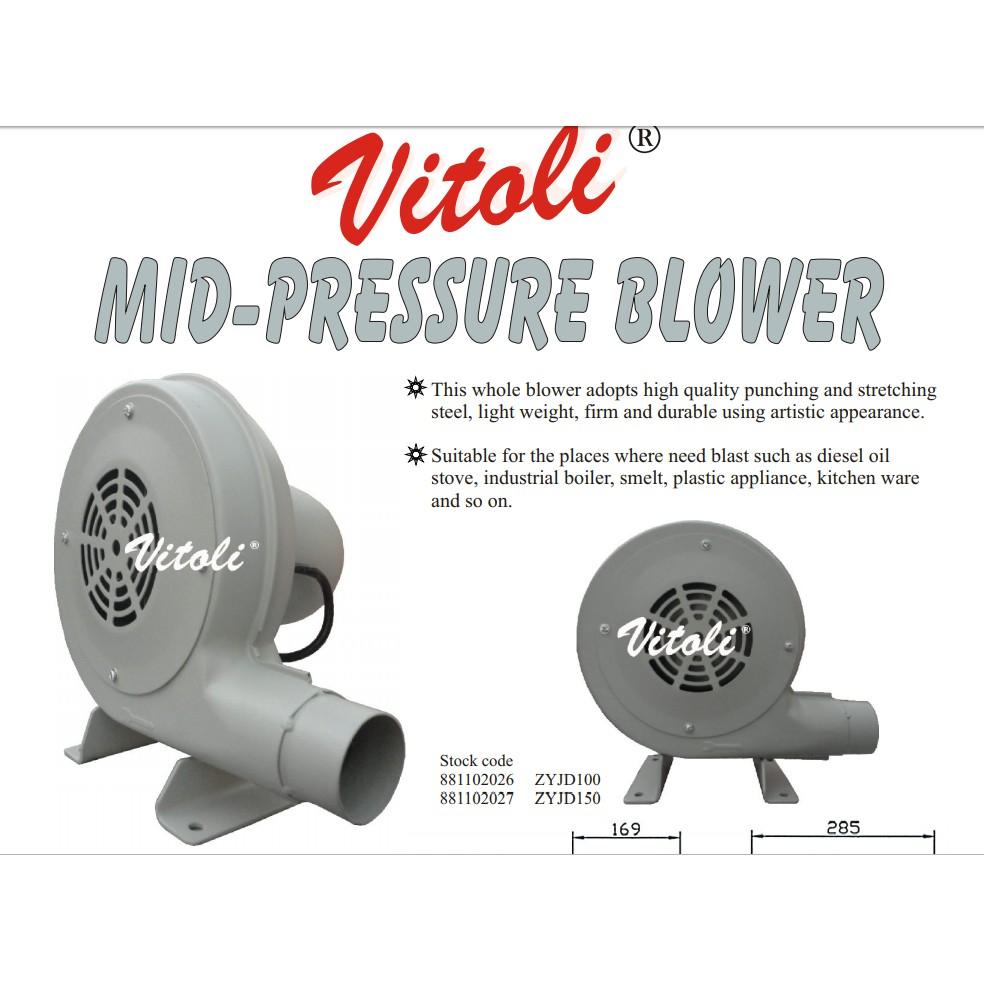 """VITOLI ZYJD-150 2"""" 150W 2800RPM 490PA MIST PRESSURE BLOWER"""