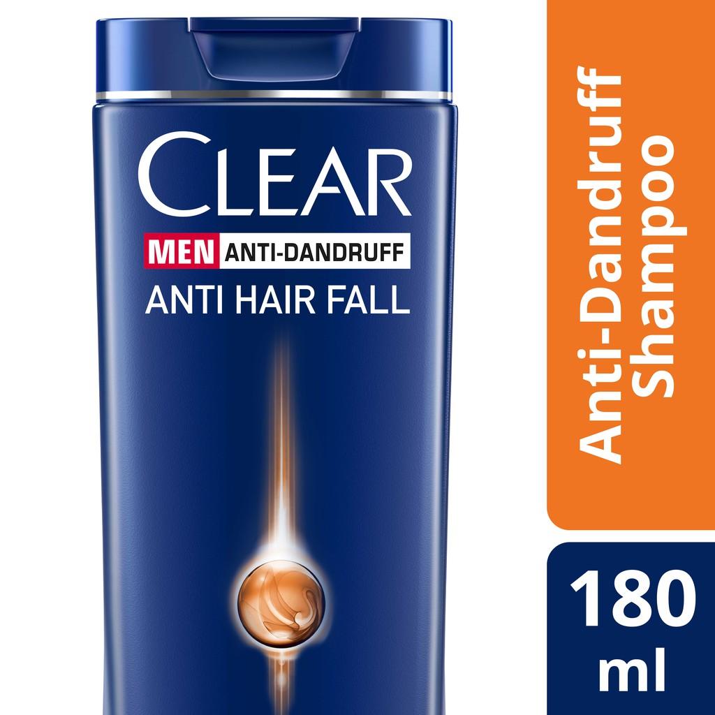 Clear Men Anti Hair Fall Dandruff Shampoo 180 Ml Shopee Malaysia Sunsilk Hijab 70ml