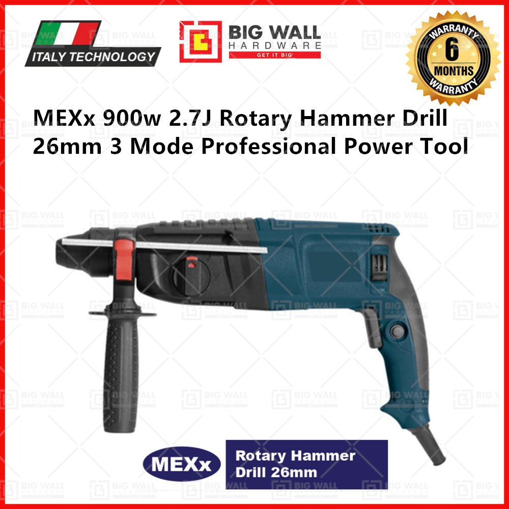 MEXx 900w 2.7J Rotary Hammer Drill 26mm 3 Mode Professional Power Tool *New Arrival Promotion (Big Wall Hardware)