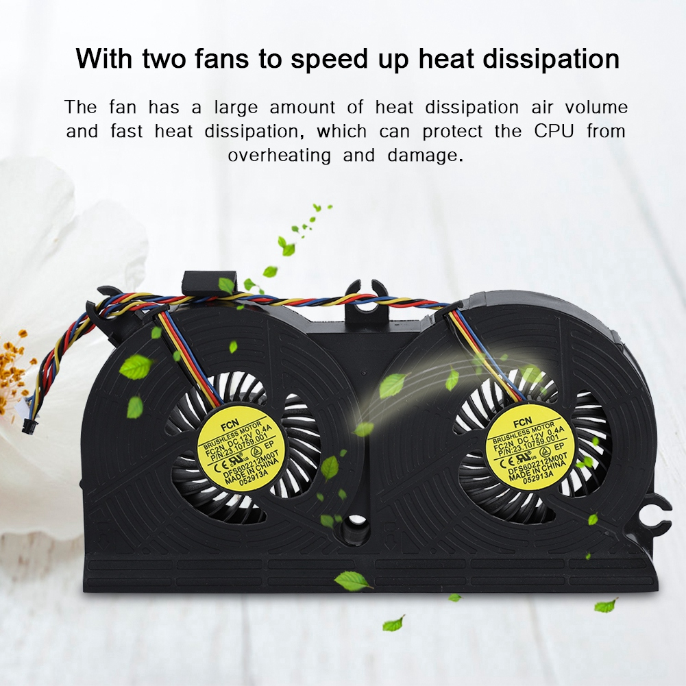 For HP EliteOne 800 G1 705 G1 All-in-one CPU Cooling Fan DFS602212M00T 4Pin  SM