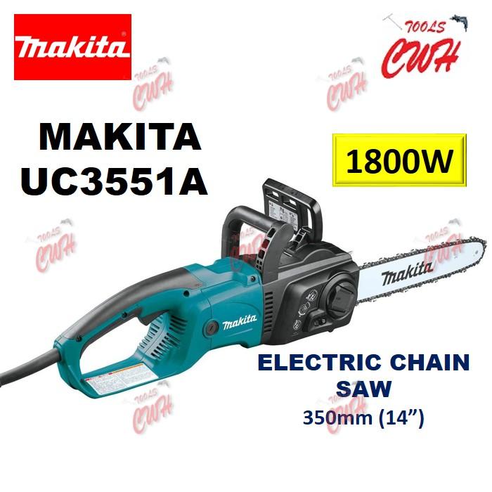 MAKITA UC3551A 350MM (14'') 1800W CHAIN SAW TREE CUTTING BRANCH CHAINSAWS