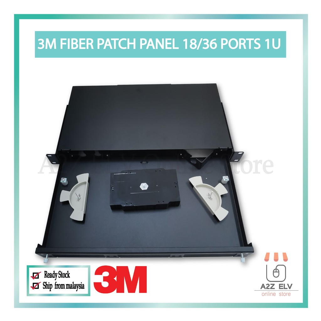 3M PFG Volition Fiber Patch Panel 18/36 Ports 1U