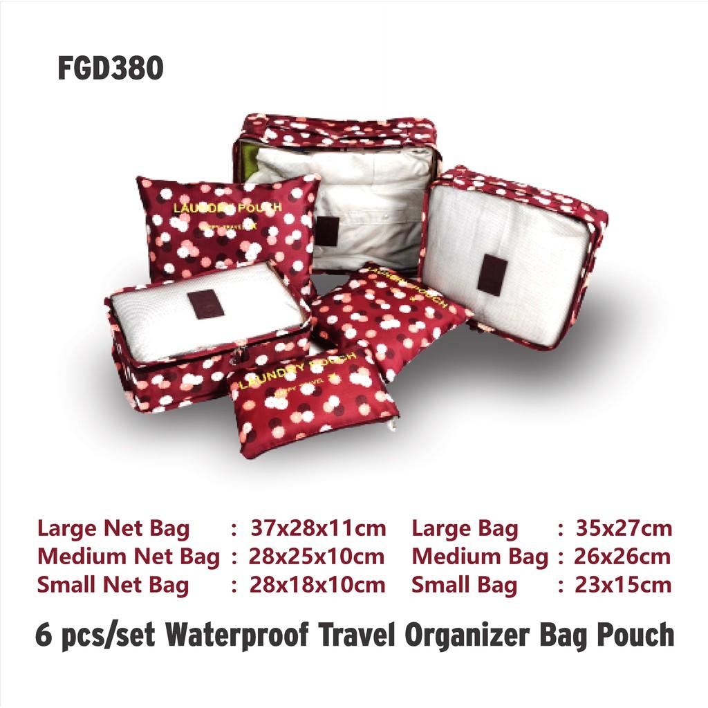 FGD 380 WATERPROOF TRAVEL ORGANIZER POUCH BAG 6PCS / SET