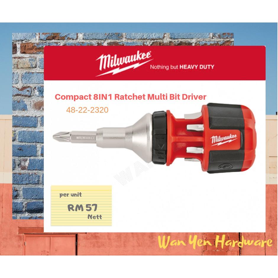 Milwaukee 48-22-2320 Compact Ratcheting Multi Bit Driver