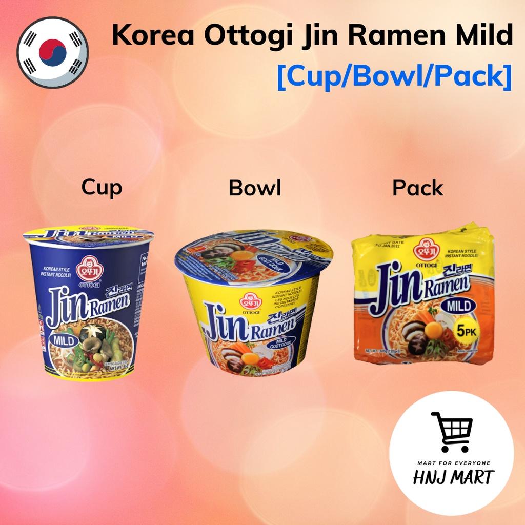 Korea Ottogi Jin Ramen Mild [Cup/Bowl/Pack] Ramyun Noodle