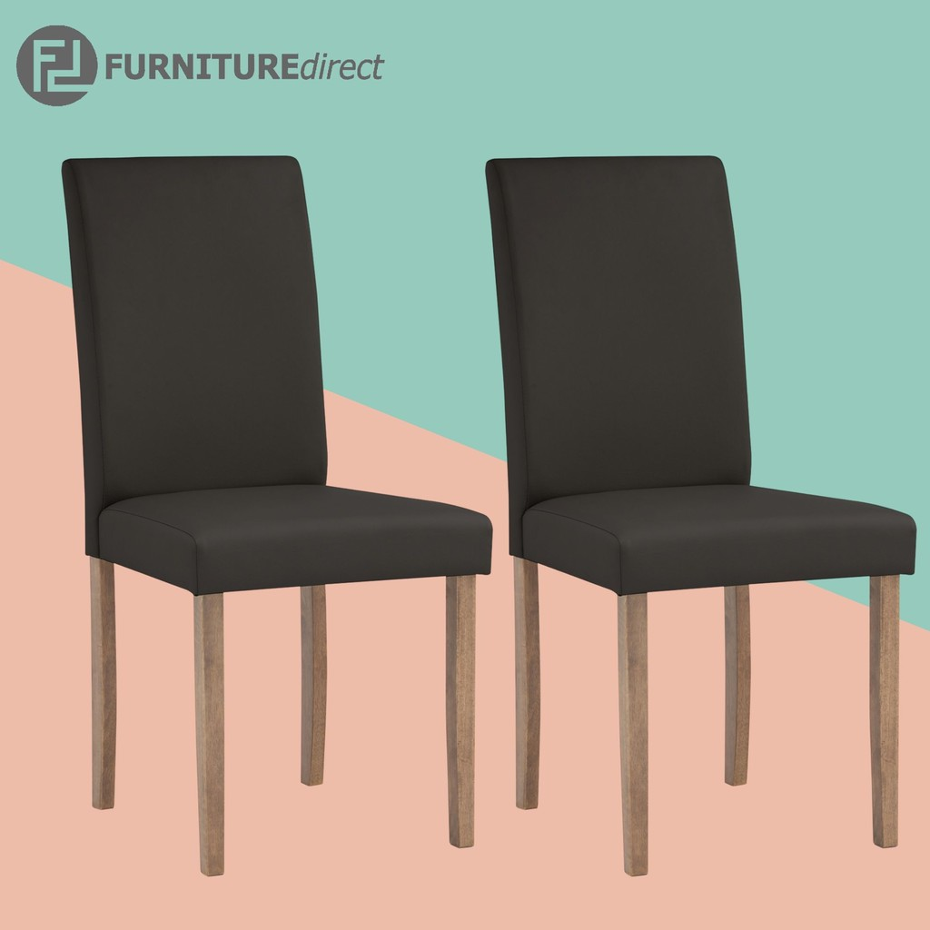 Pair of Lenore upholstered dining chair/ parson chair/ dining chair/ kerusi makan/ kerusi kayu