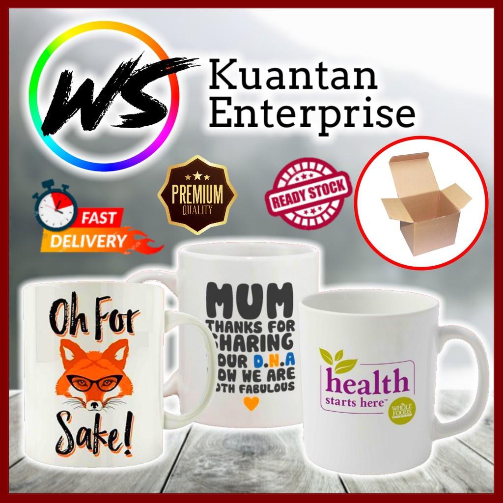 【100% Ready Stock】Personalized Ceramic Mug Printing   Mug Printing Murah Berkualiti (Free Printing + Free Gift Box)