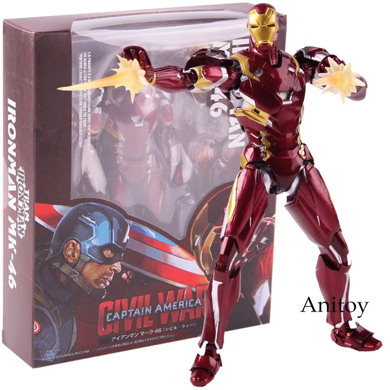 Action & Toy Figures Radient Avengers 3 Inifity War Black Panther Mini Action Figures Iron Man Mk50 Iron Spider Man Deadpool Pvc Figure Toys Brinquedos Anime Latest Technology