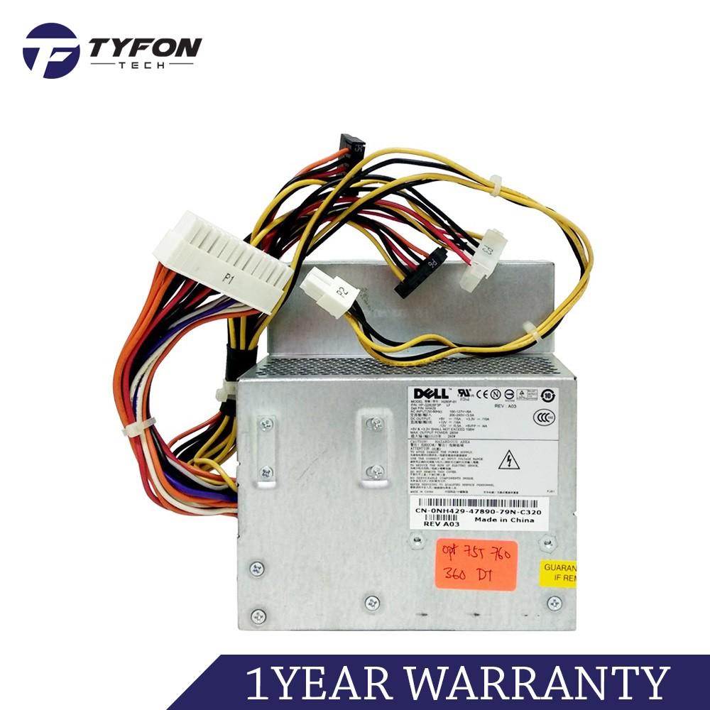 Dell Optiplex 740 745 755 760 360 380 DT Power Supply PSU 280W L280P-01  H280P-01 (Refurbished)